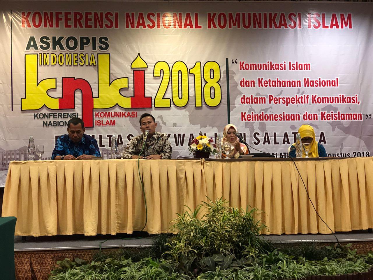 Prodi KPI UIN Antasari menghadiri Konferensi Nasional Komunikasi Islam (KNKI) II Askopis Tahun 2018 di IAIN Salatiga