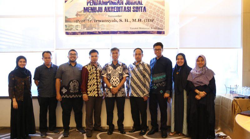 Jurnal Alhadharah: Jurnal Ilmu Dakwah Mengikuti Pendampingan Menuju Akreditasi Sinta di Makassar